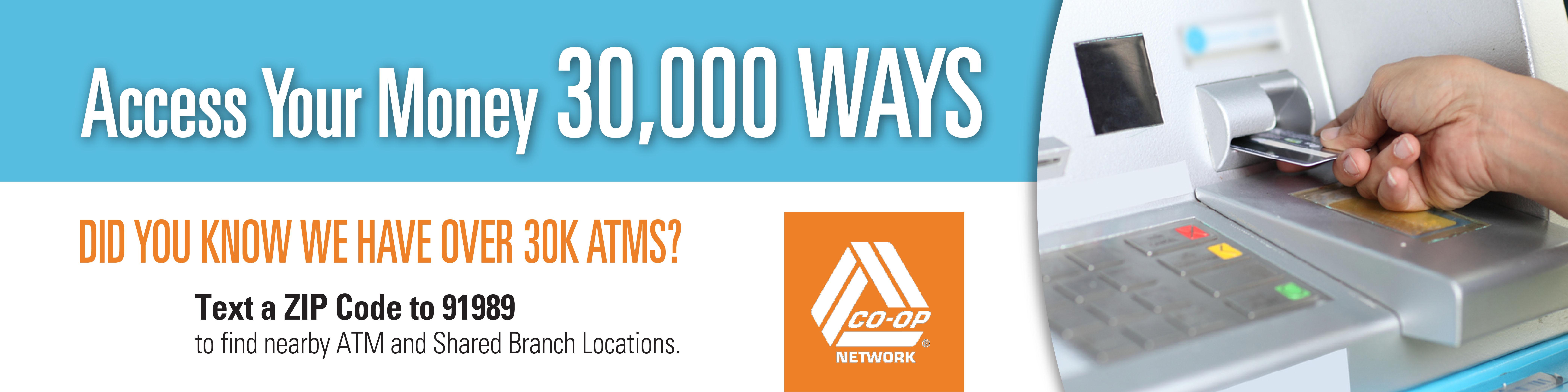 CO-OP 30,000 ATMs